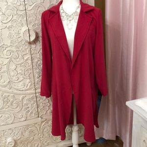 Ny&co fuchsia duster jacket. NWOT